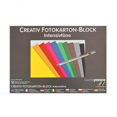 Блок фото картон, 300 g/m2, 24 x 34 cm, 10 листа, ярки цветове