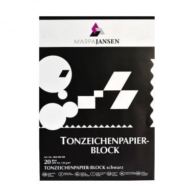 Блок цветен картон, 130 g/m2, А3, 20 листа, черен