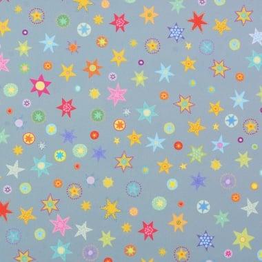 Варио картон, 250 g/m2, А4, 1л, Звезди, сиво/синьо