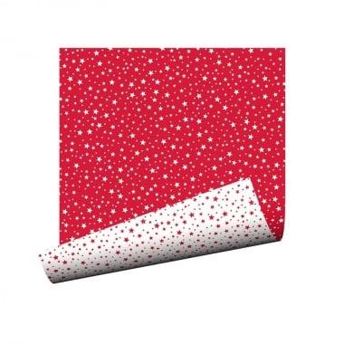 Варио картон, 250g/m2, 50x 70cm, 1л, бял/ червени звезди