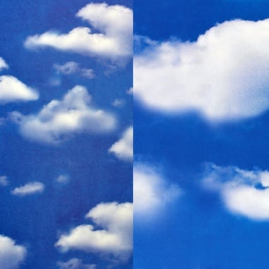Варио картон, 300 g/m2, 50 x 70 cm, 1л, големи и малки облаци/вода