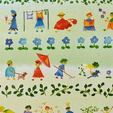 Варио картон, 300 g/m2, 50 x 70 cm, 1л, деца, цветя