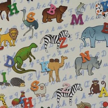 Варио картон, 300 g/m2, 50 x 70 cm, 1л, животните и азбуката