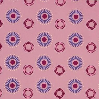 Варио картон, 300 g/m2, 50 x 70 cm, 1л, Кръгове, розов