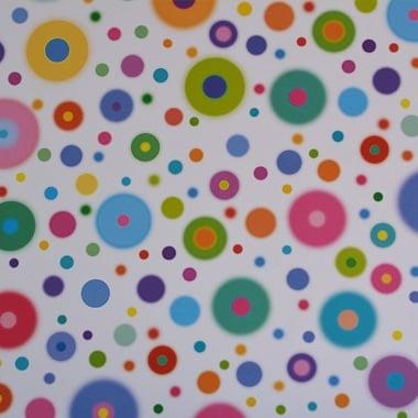 Варио картон, 300 g/m2, 50 x 70 cm, 1л, разноцветни кръгове