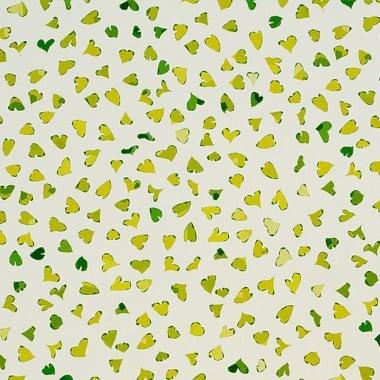 Варио картон, 300 g/m2, 50 x 70 cm, 1л, Танцуващи сърца, зелени