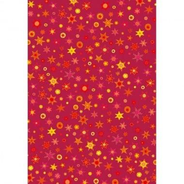 Варио картон, 300 g/m2, 50 x 70 cm, 1л, червен на съзвездия