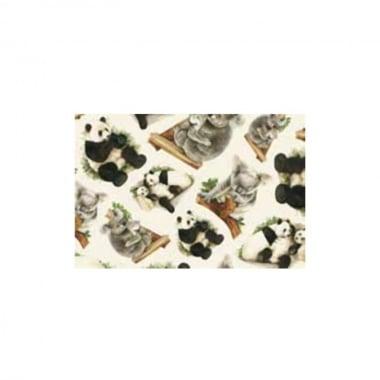 Декупажна хартия с мотиви, 40 g/m2, 50 x 70 cm, 1л, Панди и коали