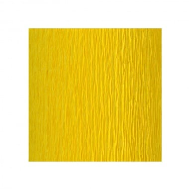 Креп хартия усилена, 130 g/m2, 50 x 250 cm, 1 ролка, лимонено жълт