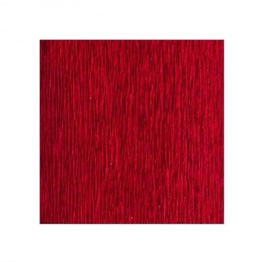 Креп хартия усилена, 130 g/m2, 50 x 250 cm, 1 ролка, яркочервен