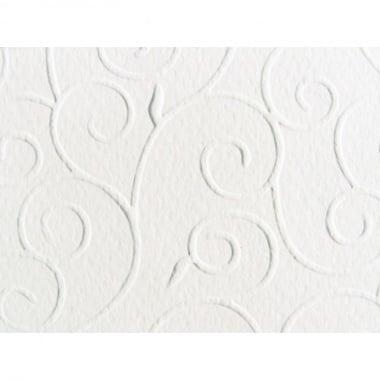 Преге картон, арабески, 220 g/m2, 50 x 70 cm, 1л, алпийско бял