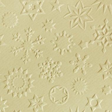 Преге картон, звезди, 220 g/m2, 50 x 70 cm, 1л, кремав