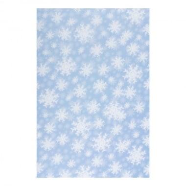 Хартия прозрачна твърда, 115 g/m2, 50 x 60 cm, 1 л, Снежинки