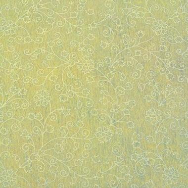 Хартия ръчна памучна, 50 g/m2, 50 x 70 cm, 1 л., жълт с релефни цветя