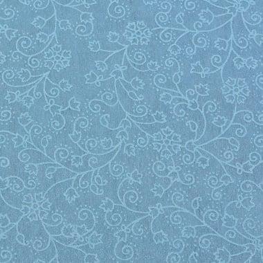 Хартия ръчна памучна, 50 g/m2, 50 x 70 cm, 1 л., син с релефни цветя