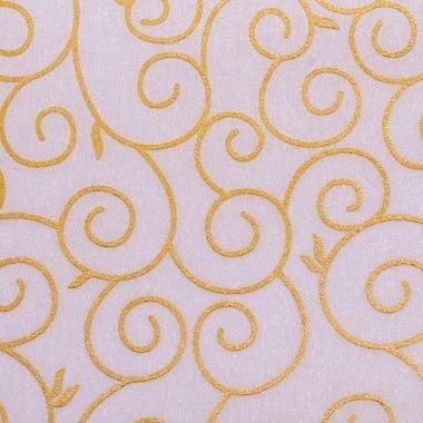 Хартия ръчна памучна, 65 g/m2, 50x70cm, 1 л., кремав със златни арабески