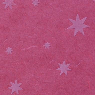 Японска 3D хартия, 35 g/m2, 50 x 70 cm, 1л, звезди, червена