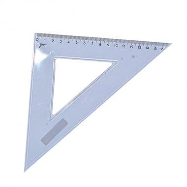 Триъгълник равнобедрен Cretacolor, прозрачен син