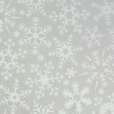 Хартия прозрачна твърда, 115 g/m2, 50 x 60 cm, 1 л, Снежинки бели
