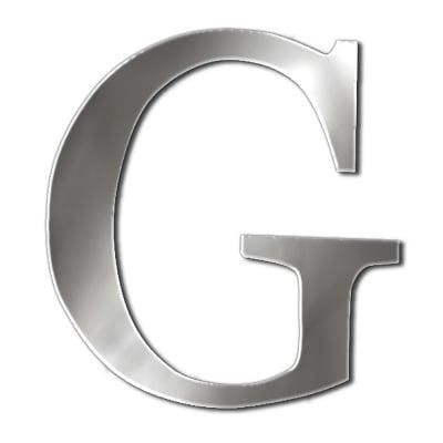 "Декоративен символ RicoDesign, ""G"", SILVER, 33/29 mm"