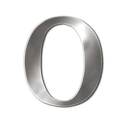 """Декоративен символ RicoDesign, """"O"""", SILVER, 33/31 mm"""