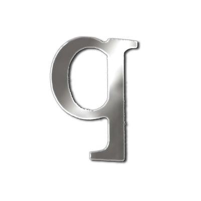 """Декоративен символ RicoDesign, """"q"""", SILVER, 32/23 mm"""