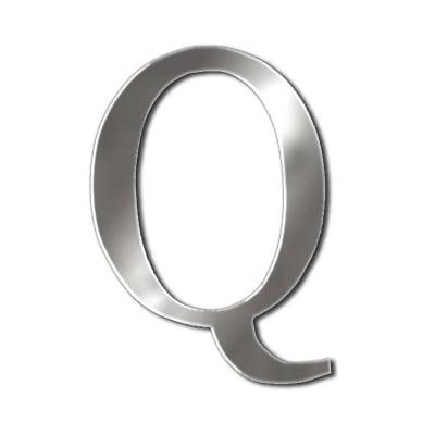 """Декоративен символ RicoDesign, """"Q"""", SILVER, 35/31 mm"""