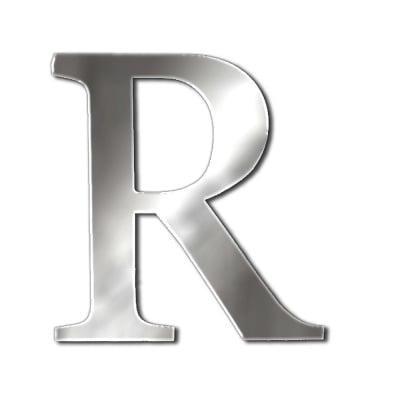 "Декоративен символ RicoDesign, ""R"", SILVER, 32/27 mm"