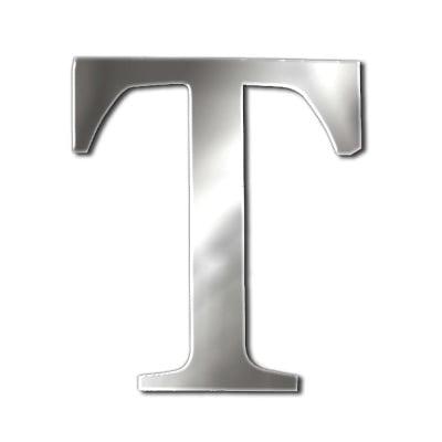 """Декоративен символ RicoDesign, """"T"""", SILVER, 32/26 mm"""