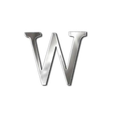 """Декоративен символ RicoDesign, """"w"""", SILVER, 24/35 mm"""