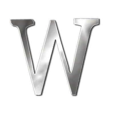 """Декоративен символ RicoDesign, """"W"""", SILVER, 33/41 mm"""