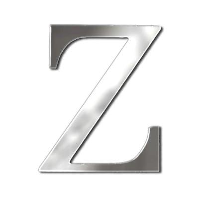 "Декоративен символ RicoDesign, ""Z"", SILVER, 32/27 mm"