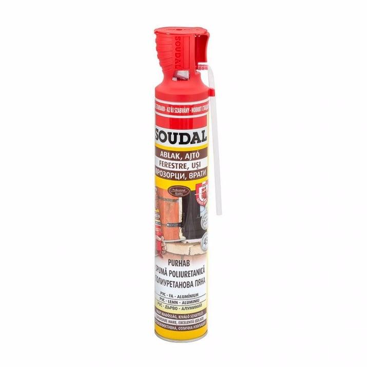 PU монтажна пяна SOUDAL, Genious gun, 750 ml,  ръчна