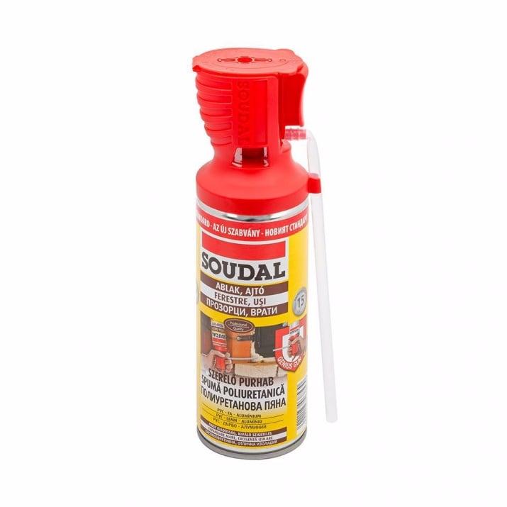 PU монтажна пяна SOUDAL, Genious gun, 300 ml,  ръчна