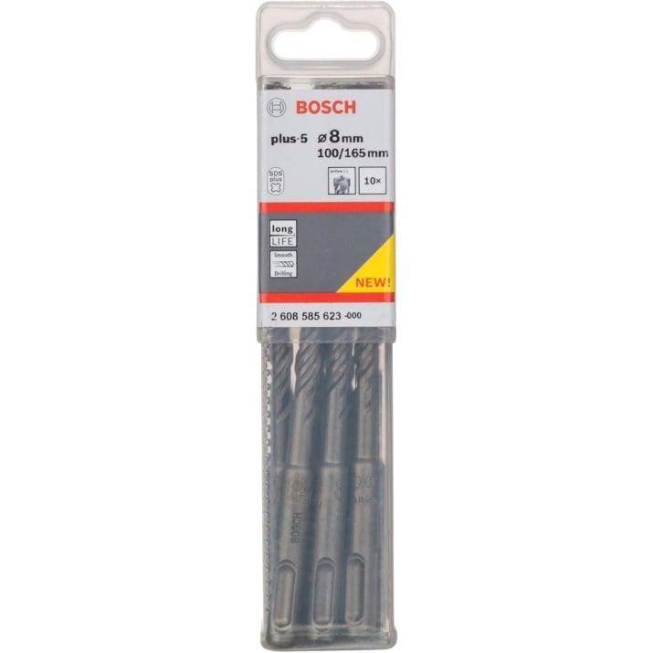 Свредла за бетон BOSCH SDS Plus - 5, 10 бр