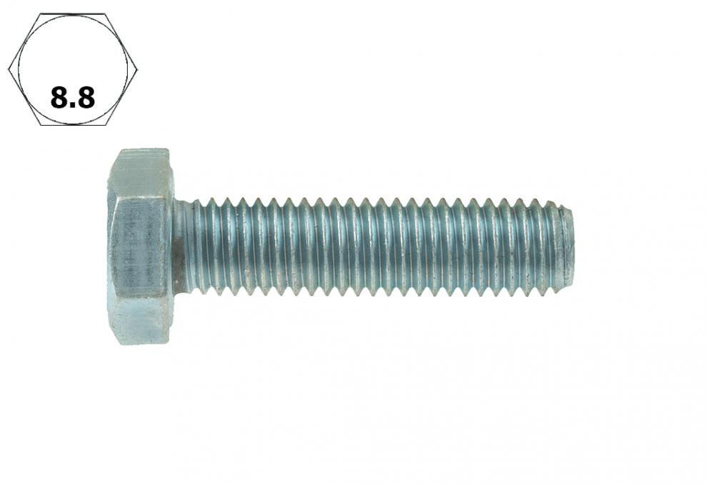 Болт с шестостенна глава, DIN 933, 8.8, vZn