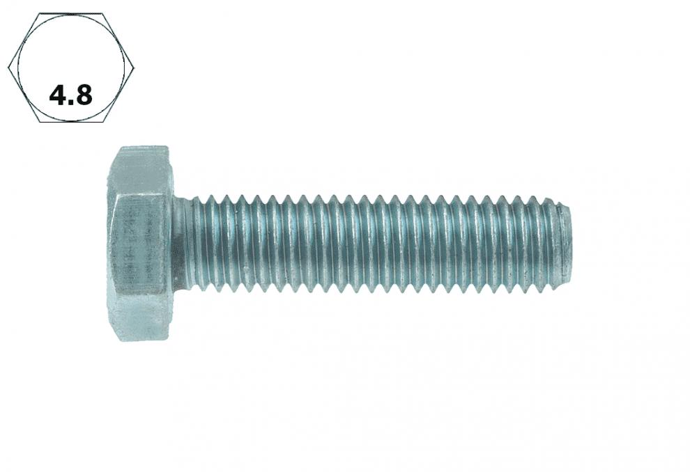 Болт с шестостенна глава, DIN 933, 4.8, vZn, M 8 x 40