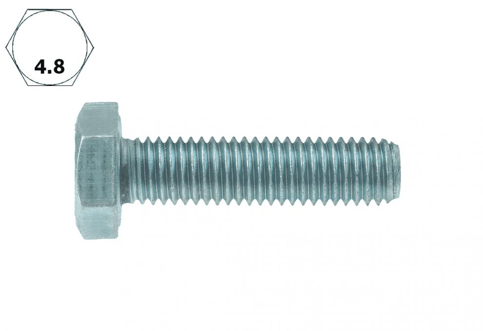 Болт с шестостенна глава, DIN 933, 4.8, vZn, M 16 x 150