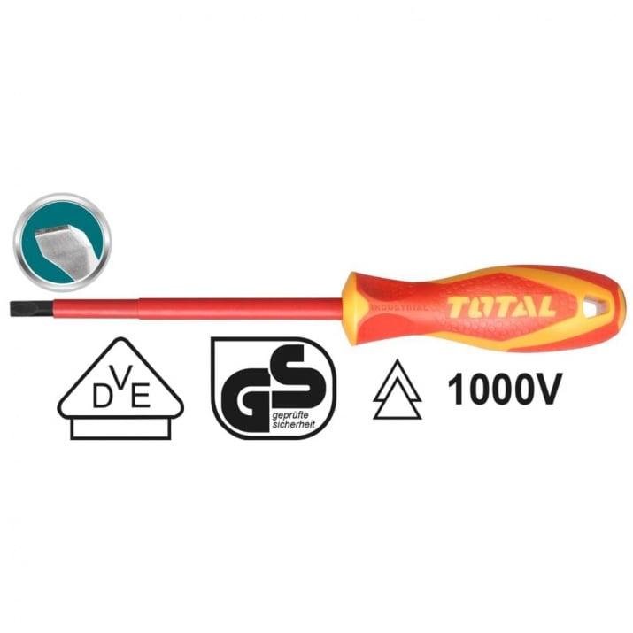 Отвертка VDE 1000 V, TOTAL, SL