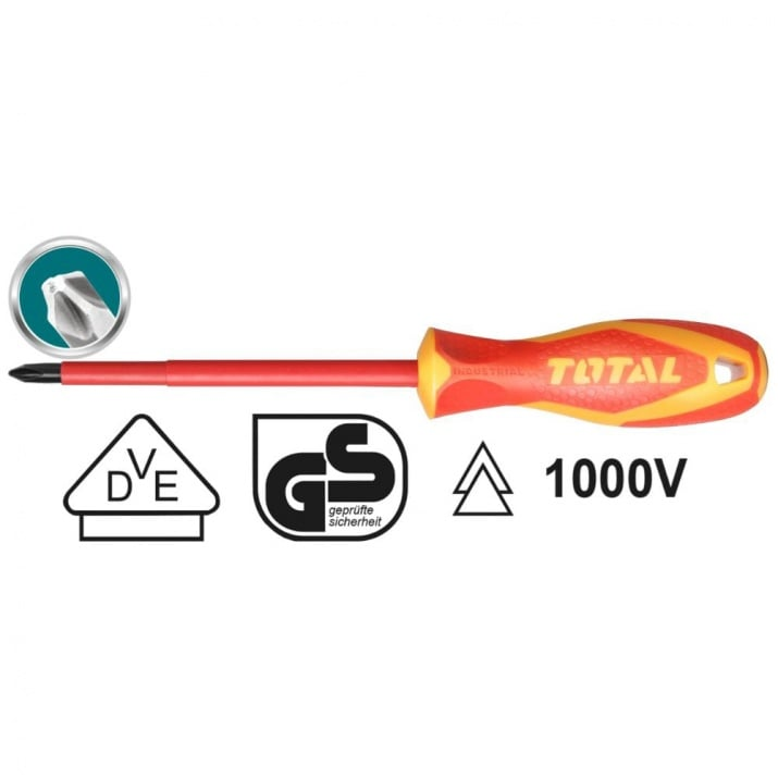 Отвертка VDE 1000 V, TOTAL, PH