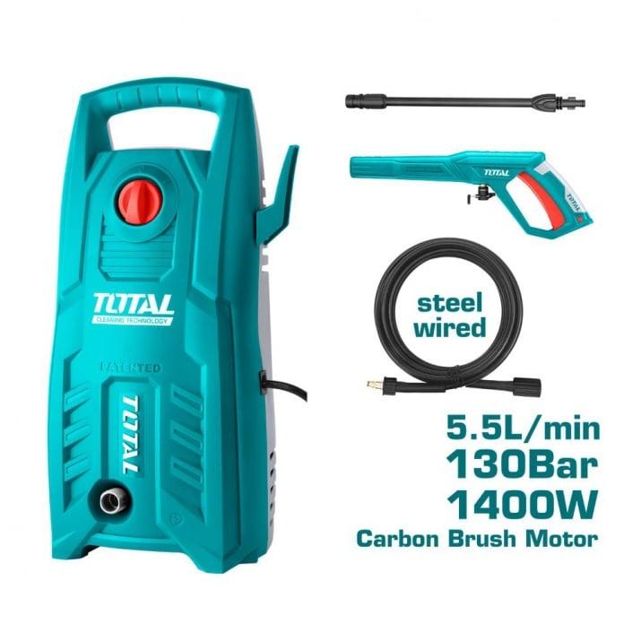 Водоструйка TOTAL, 1400 W, IPX5, 130 BAR, 5.5 L/min