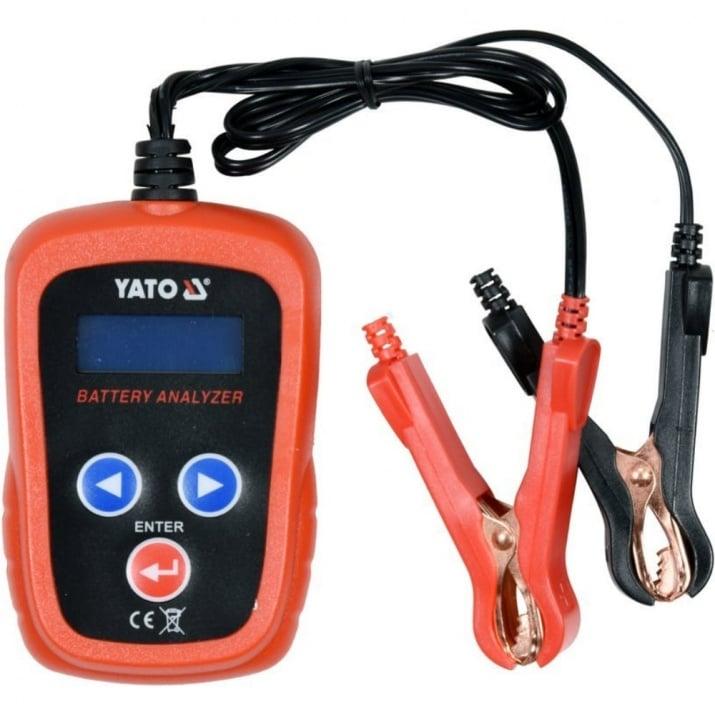 Тестер за акумулатори YATO, 12 V, 200 - 1200 A, LCD