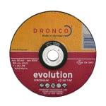 Диск за шлайфане на INOX, изпъкнал, DRONCO Evolution AZ30T, Ф 230 x 6.0 х 22.23 мм