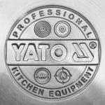 Ниска тенджера с капак, неръждаема стомана YATO