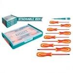 Комплект VDE отвертки в кутия - органайзер TOTAL INDUSTRIAL, 10 части