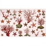 Декупажна хартия, 60 g/m2, 33 x 48 cm, 1л, Морски звезди и корали