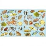 Декупажна хартия, 60 g/m2, 33 x 48 cm, 1л, Морски обитатели