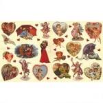 Декупажна хартия, 60 g/m2, 33 x 48 cm, 1л, Поздрави с любов
