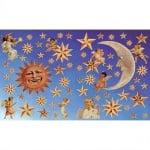 Декупажна хартия, 60 g/m2, 33 x 48 cm, 1л, Слънце, луна, звезди