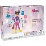 Комплект за рисуване върху стъкло GLASS Design, 'Fashion designer', 16 части